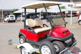 Red Golf Club Car